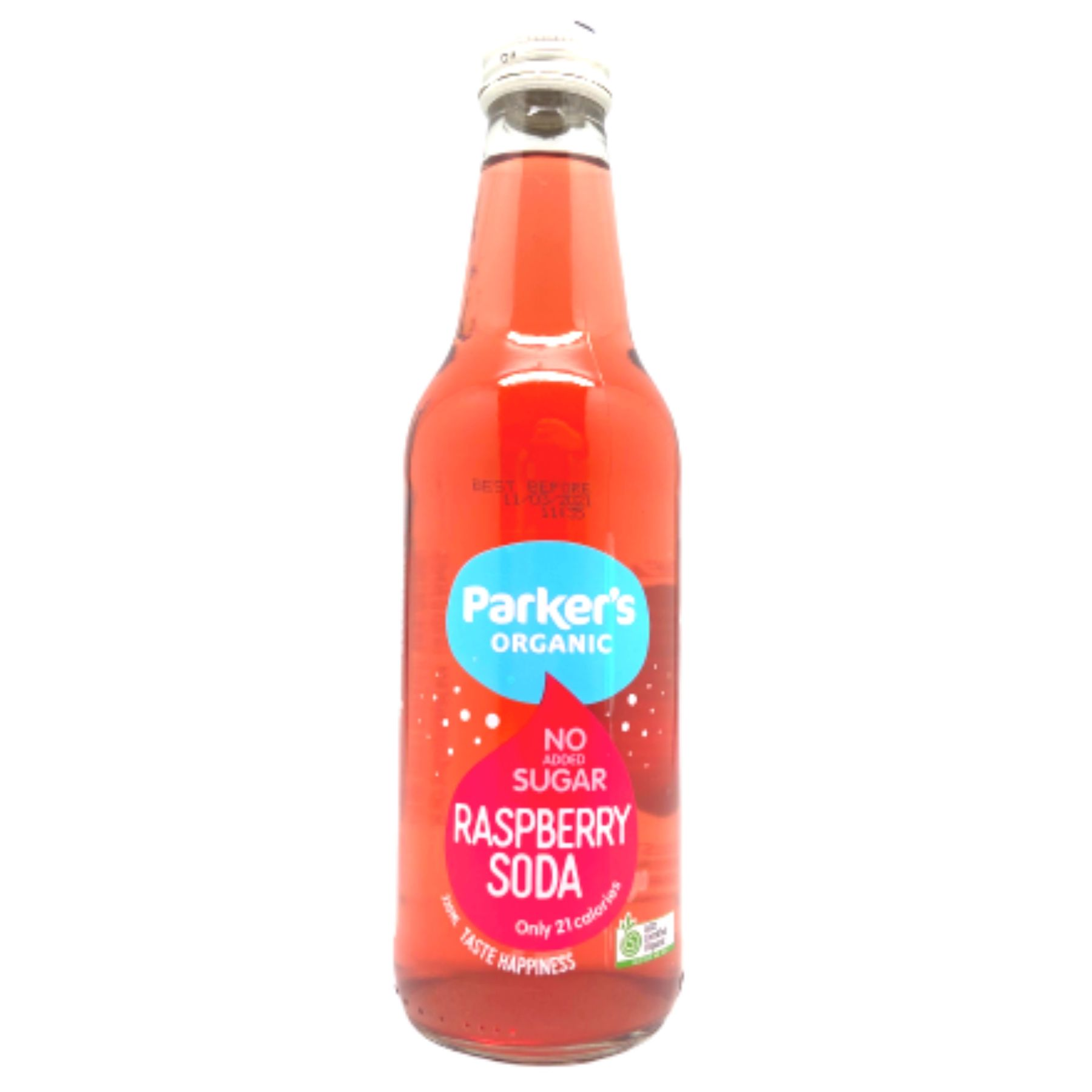 PARKERS Organic Raspberry Soda (Sugarless) 330ml
